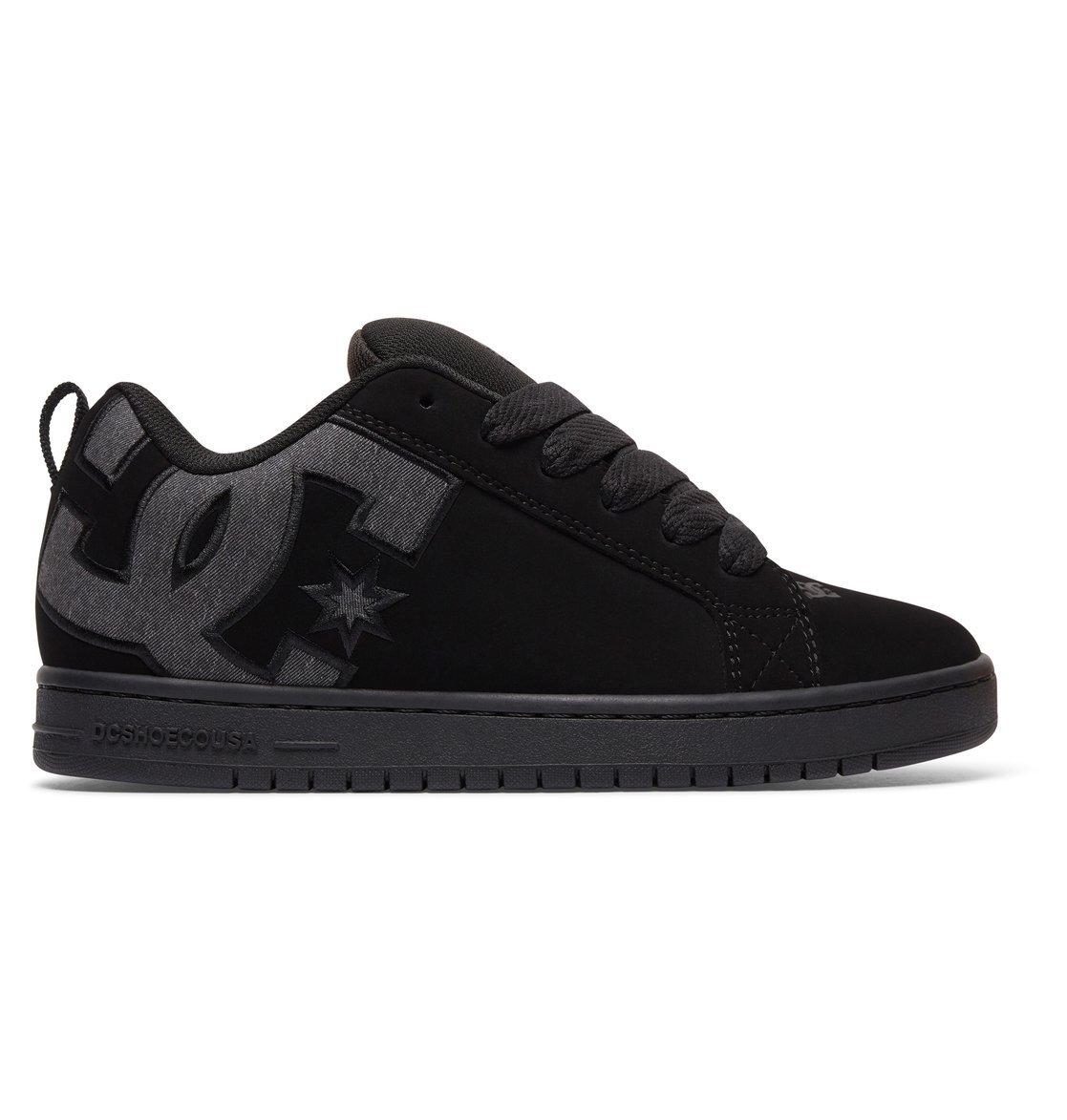 DC Men's Court Graffik SE Skate Shoe,Black Destroy Wash,12 D US