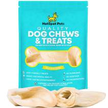 hotspot pets Cow Ears for Dogs Chews - All Natural Single Ingredient Beef Dog Treats -from Grass Fed Cattle with No Hormones, Additives or Chemicals - Healthy Alternative to Rawhide Chews (10 Pack)