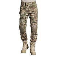 SINAIRSOFT Tactical Pants Shirt with Knee Pads Army Airsoft Combat BDU Pants Camo-(Greens,Browns,Black)3XL
