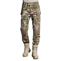 SINAIRSOFT Tactical Pants Shirt with Knee Pads Army Airsoft Combat BDU Pants Camo-(Greens,Browns,Black)3XL