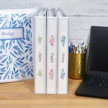 """Avery Economy View 3 Ring Binders for Home School Supplies, Office Needs, or Home Organization, 1"""" Round Rings, 4 White Binders (19200)"""