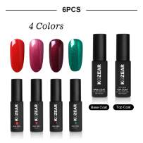 KOZEAR UV LED Gel Nail Polish Set of 6 Colors Party Queen Style Gift Box Set for Nail Art, Manicures