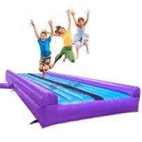 ibigbean Tumble Track Inflatable Air Mat for Gymnastics -10 ft Width 20 in Height PVC Material