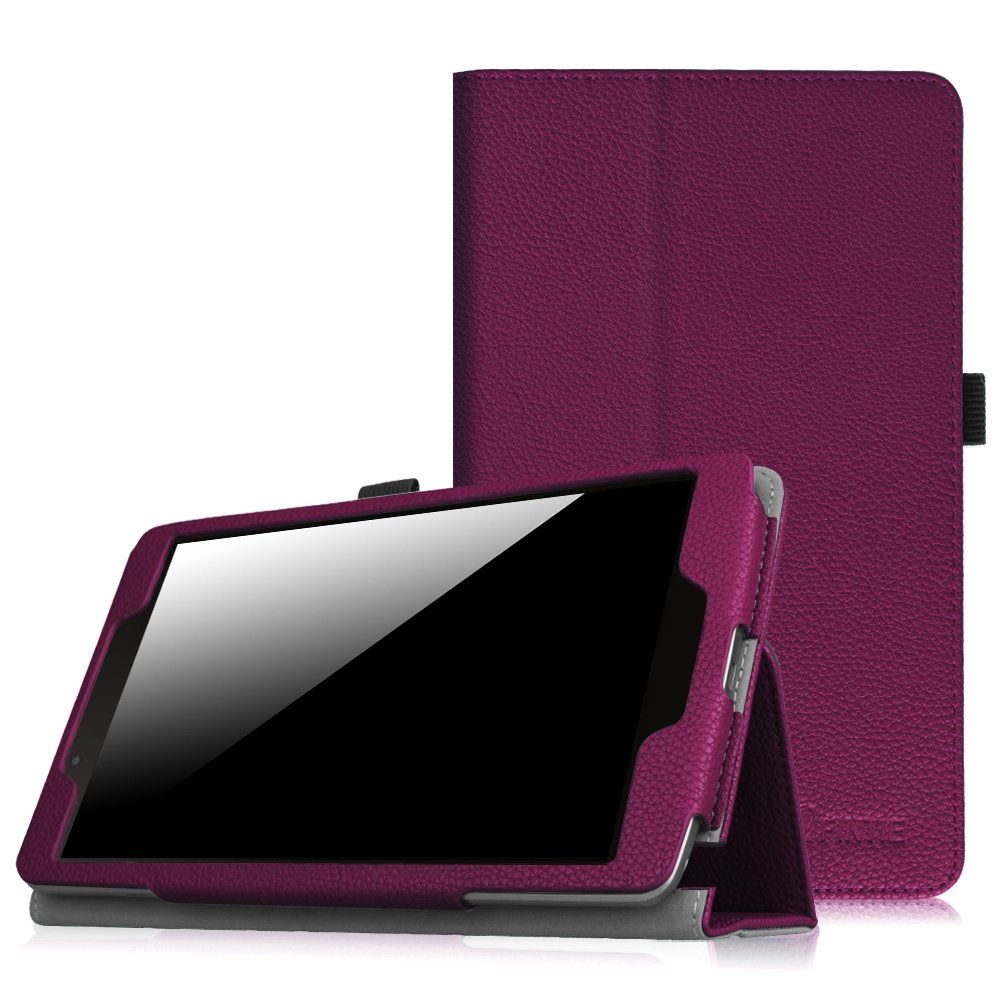 Fintie Folio Case for LG G Pad F 8.0 / G Pad II 8.0 - Premium PU Leather Stand Cover for G Pad F 8.0 V495 / V496 / UK495 & G Pad 2 8.0 V498 8-Inch Tablet (Purple)