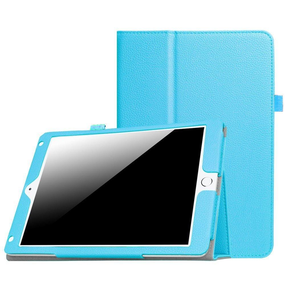 New iPad 9.7 Inch 2018/2017 / iPad Air 2 / iPad Air Case - [Corner Protection] Premium PU Leather Folio Smart Cover w/Auto Sleep/Wake for iPad 9.7 in 2017 Release, iPad Air 1 2(Sky Blue)