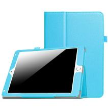 New iPad 9.7 Inch 2018/2017 / iPad Air 2 / iPad Air Case - [Corner Protection] Premium PU Leather Folio Smart Cover w/Auto Sleep/Wake for iPad 9.7 in 2017 Release, iPad Air 1 2(Sky Blue)