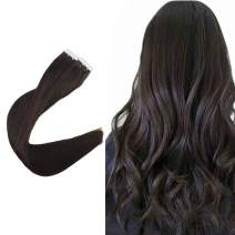 Easyouth Human Hair Tape Extensions 18 Inch Dark Brown Color 80g per Package Skin Weft Hair Extensions Seamless Hair Extensions