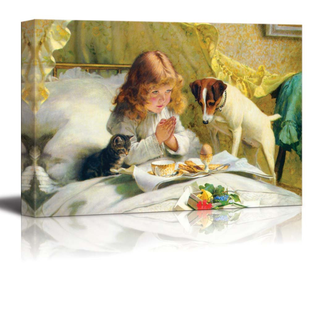 """Suspense by Charles Burton Barber - Canvas Print Wall Art Famous Painting Reproduction -12"""" x 18"""""""