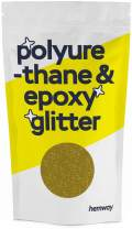 Hemway Metallic Glitter Floor Crystals for Epoxy Resin Flooring (500g) Domestic, Commercial, Industrial - Garage, Basement - Can be Used with Internal & External (Gold)