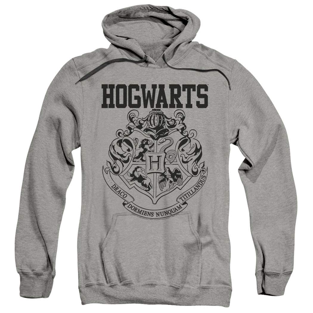 Popfunk Harry Potter Hogwarts Logo Pull-Over Hoodie Sweatshirt & Stickers