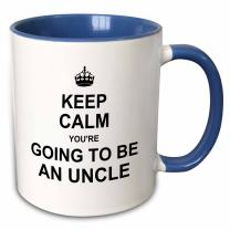3dRose 194462_6 Keep Calm You're Going Future Uncle-Family Text Gift Mug, 11oz, Blue