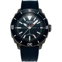 Alpina Seastrong Diver GMT Quartz Movement Grey Dial Men's Watches