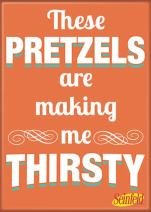 "Ata-Boy Seinfeld 'These Pretzles' 2.5"" x 3.5"" Magnet for Refrigerators and Lockers"