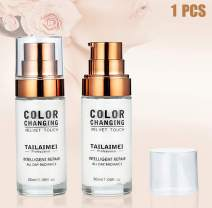 New Warming Complexion Foundation Liquid Concealer Cover Cream Flawless Colour Changing Foundation Makeup Base Face Cover Brighten Skin Moisturizing Cover(1PCS)
