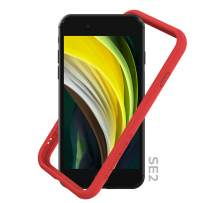 RhinoShield Bumper Compatible with [iPhone SE2 / SE (2020) / 8/7]   CrashGuard NX - Shock Absorbent Slim Design Protective Cover [3.5M / 11ft Drop Protection] - Red