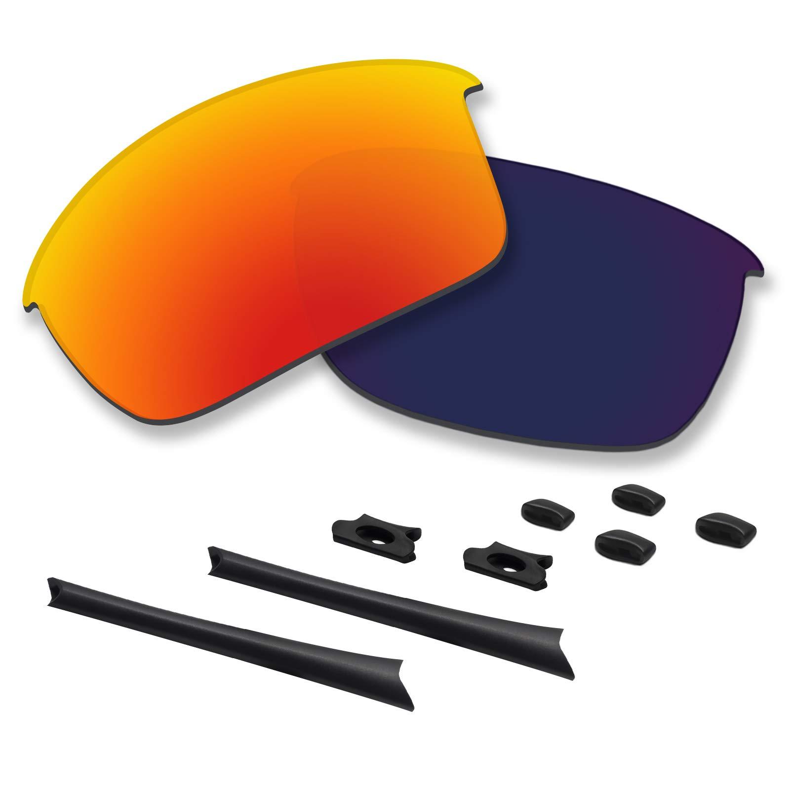Betterun Polycarbonate Polarized Replacement Lenses/Rubber Kits for Oakley Flak Jacket