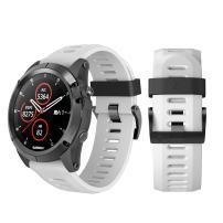 ANCOOL Compatible with Fenix 3 Bands 26mm Width Soft Silicone Watch Bands Replacement for Fenix 3 / Fenix 3hr / Fenix 5X / Fenix 5X Plus Smartwatches, White