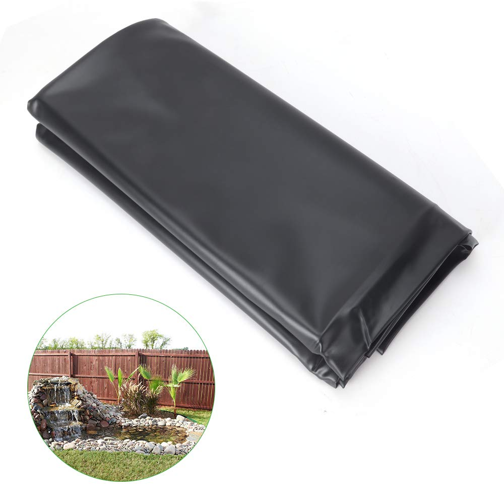 GROWNEER 7 x 13 Feet 14.5 Mil PVC Pond Liner Pond Skins for Fish Ponds, Streams Fountains and Water Gardens