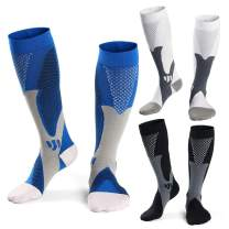 Men Compression Socks Women Medical Grade Graduated 15-25mmHg 3 Pairs