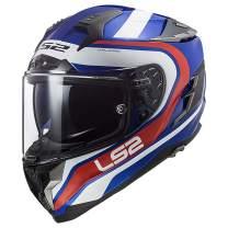 LS2 Helmets Challenger GT Full Face Street Helmet (Fusion Blue/Red - X-Small)