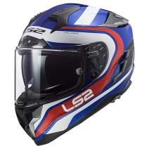 LS2 Helmets Challenger GT Full Face Street Helmet (Fusion Blue/Red - Mediuml)