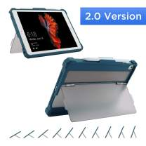 Maxjoy Case for 9.7 iPad 2018/2017, iPad 6th Generation Cases, iPad Air 2/1 Case Cover, iPad Pro 9.7 Case, Secure Multi Angle Kickstand Pencil Holder for iPad 9.7 inch 5th/6th Gen,【2.0 Version】,Blue