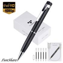 Spy Pen Camera, Hidden Camera Pen HD 1080P | One-Button Control | Motion Detection | Plug Play to PC & Mac | + Update Battery by Funshare (No Include SD Card)
