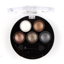 Mallofusa 5 Colors Eye Shadow Palette Powder Glitter Metallic Shimmer Makeup Palette Charming Highlight Look (Nature) 4.7oz