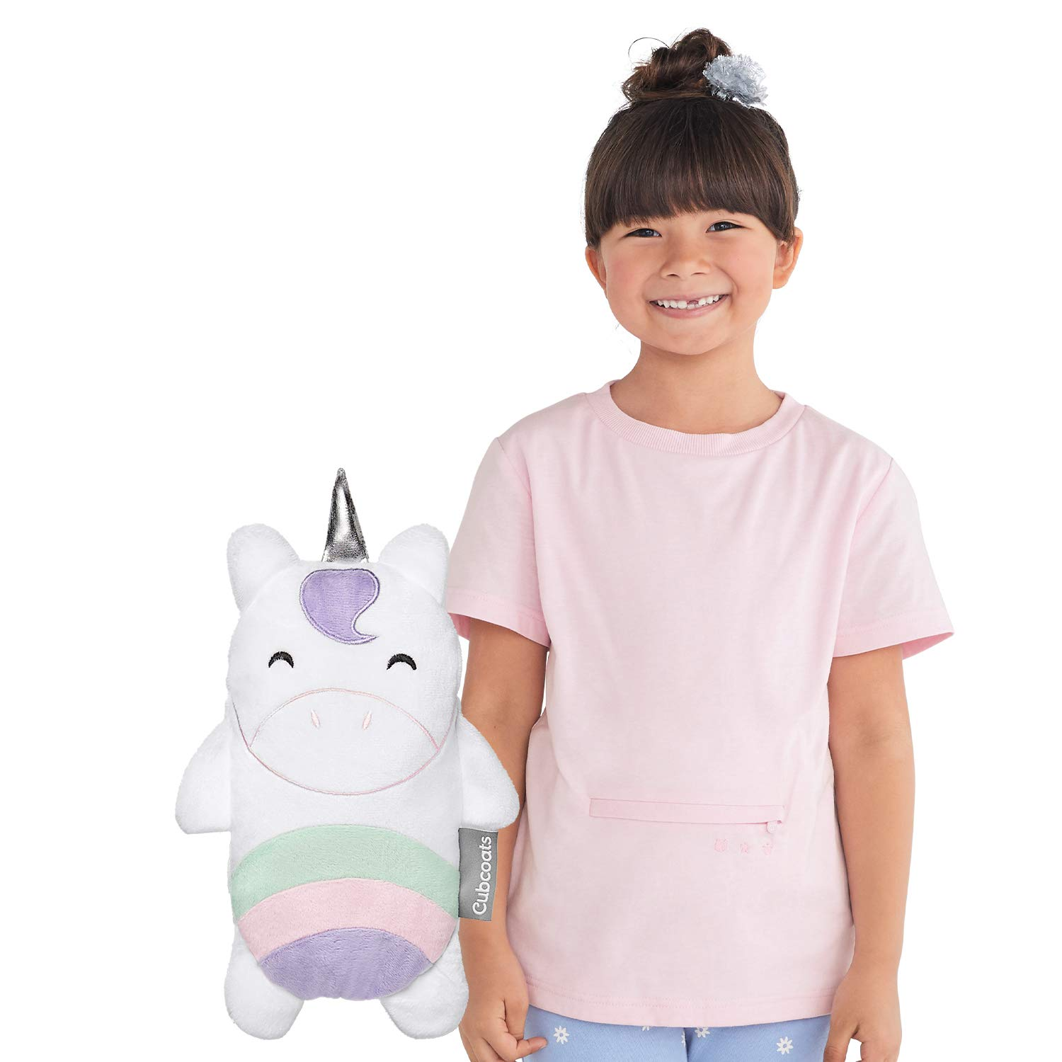 Cubcoats Uki The Unicorn 2-in-1 Transforming Tee T-Shirt and Soft Plushie