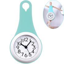 WINGOFFLY Unique Design Silicone Waterproof Bathroom Kitchen Mini Clock(Upgraded Movement Blue)