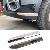 Beautost Fit for Subaru Forester 2019 2020 Bumper Corner Edge Protection Cover Trim Stainless Steel (Front Bumper Corner)