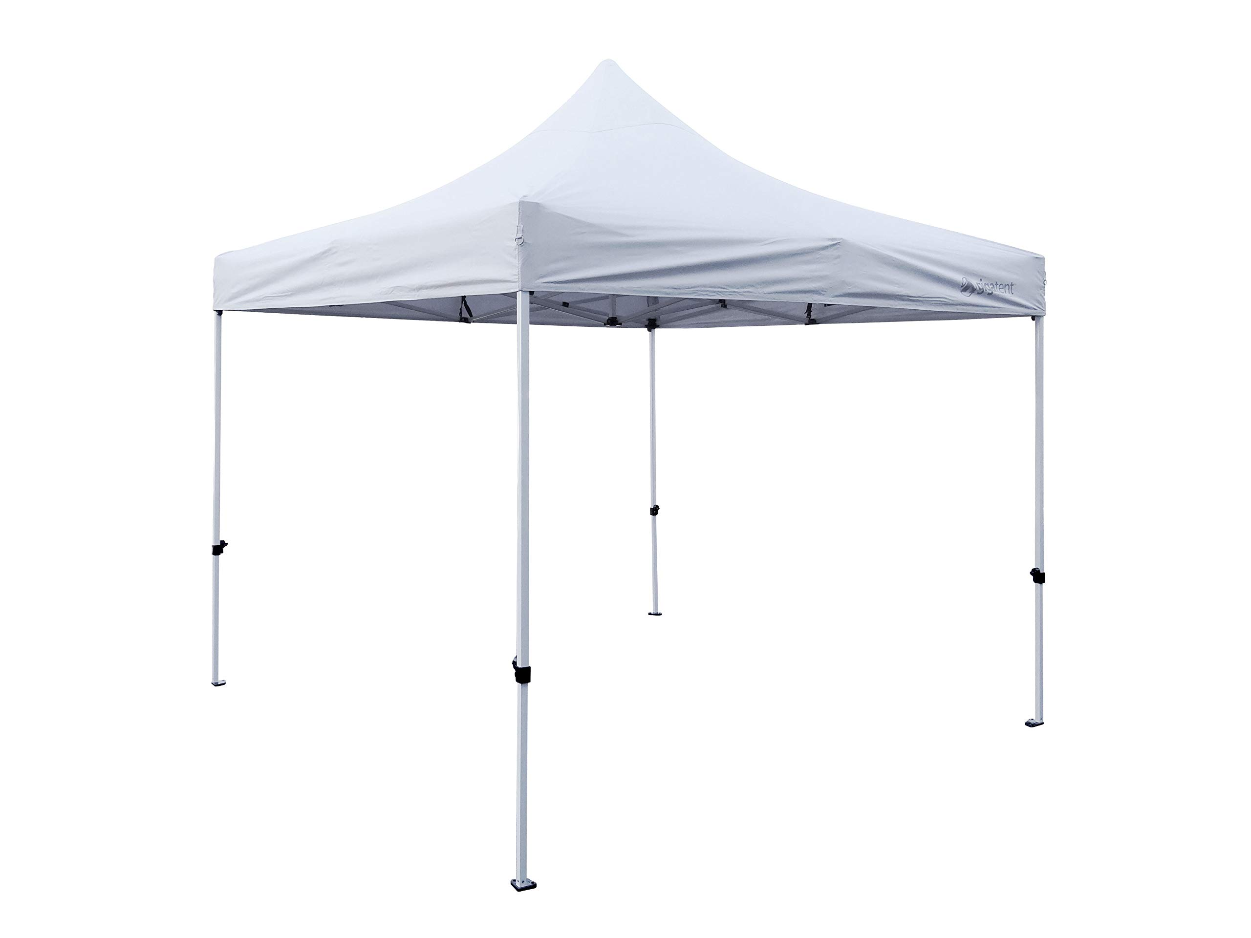 """GigaTent White Pop Up Canopy 10' x 10' - Rain and Waterproof, Fire Retardant, Adjustable Height Up to 130"""" - Powder Coated Steel Frame - Outdoor Party Tent, Sun Shade and Booth Cover – Easy Set Up"""