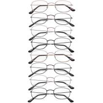 Reading Glasses 8 Pairs - Readers for Men and Women, Round Metal Frame, [ 3.75]