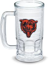 Tervis NFL Chicago Bears Primary Logo Insulated Tumbler with Emblem, 16oz Beer Mug, Clear