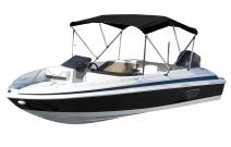 "Eevelle Sunset 3 Bow Boat Bimini Top Cover Includes 600D Canvas, 1"" Aluminum Frame, Hardware, Straps and Storage Boot, 36""High"