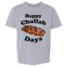 Pop Threads Happy Challah Days Funny Hanukkah Toddler Kids Girl Boy T-Shirt