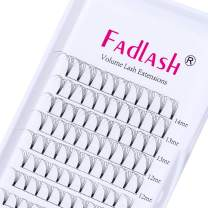 Volume Eyelash Extensions 5D 0.07 D Curl Mixed Tray 8-14mm Premade Fans Short Stem Volume Lashes Extensions Supplies 8-20mm Length Avalible (5D-0.07-D, 8-14mm)