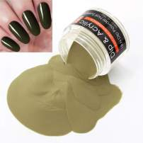 2 In 1 Nail Dip Powder & Acrylic Powder Green (Added Vitamin and Calcium) I.B.N Dipping Powder Gray 1 Ounce, Non-Toxic & Odor-Free, No Need Nail Lamp Dryer (53)