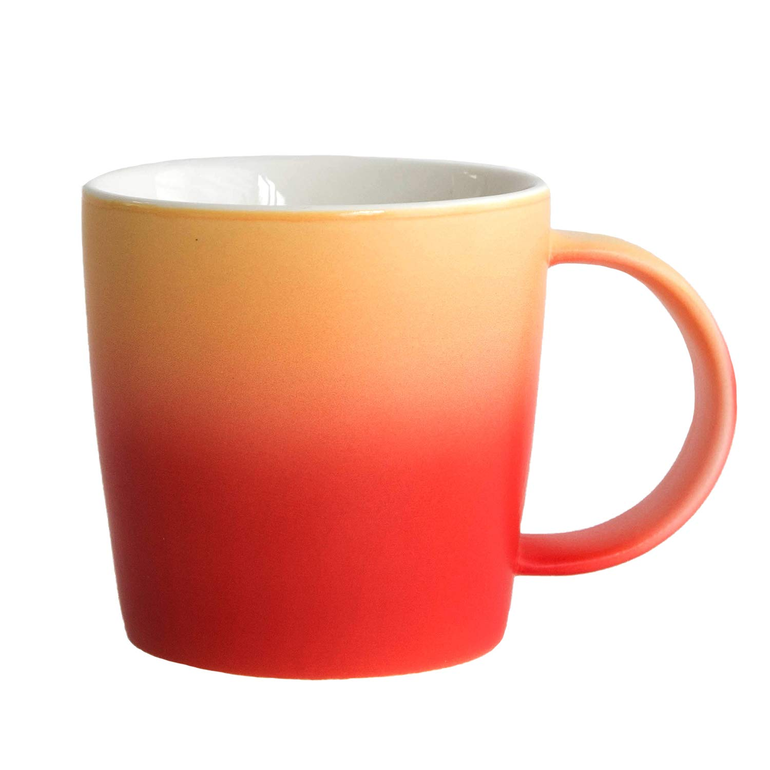 Ombré Color Collection (Magma - Red/Orange), Gradient Mug, Cool Coffee Mugs/Tea Cups,12oz Bone China, Dishwasher & Microwave Safe by Root7-2 Pack