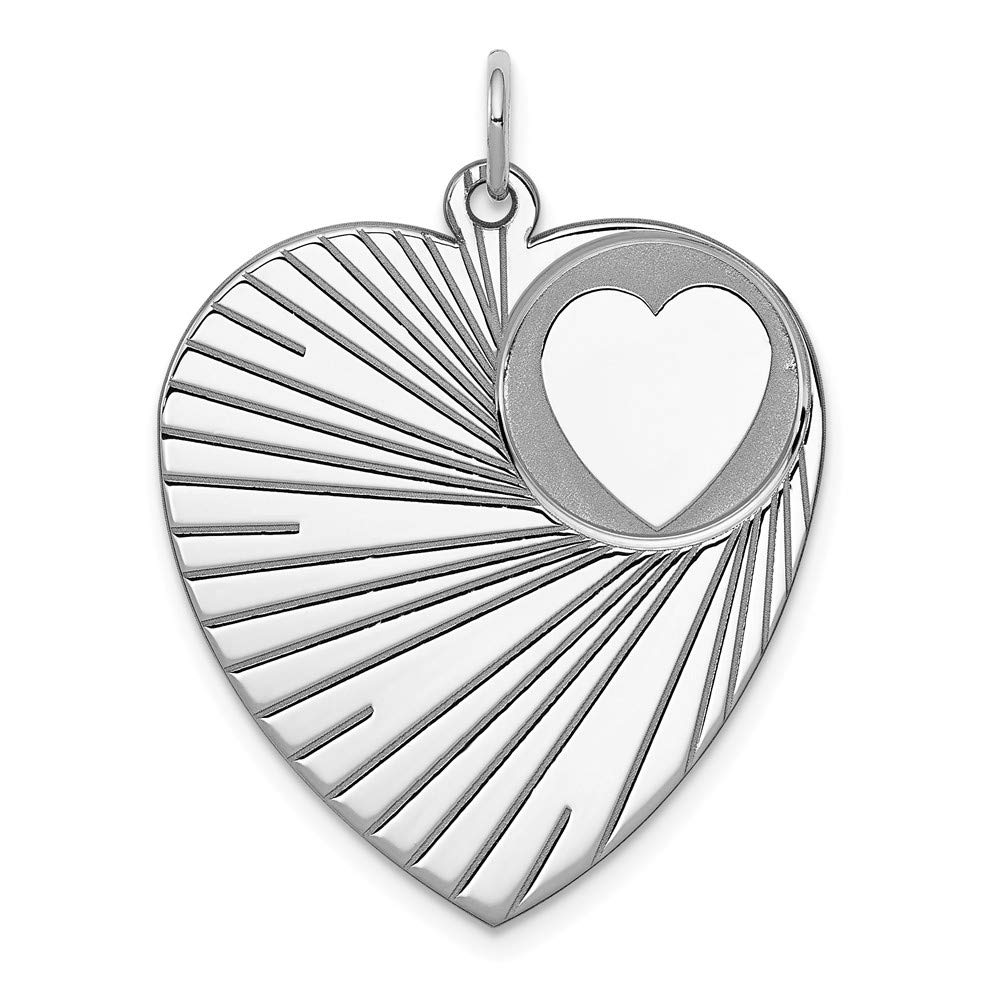 925 Sterling Silver Engraveable Heart Disc Pendant Charm Necklace Engravable Fine Jewelry For Women Gifts For Her