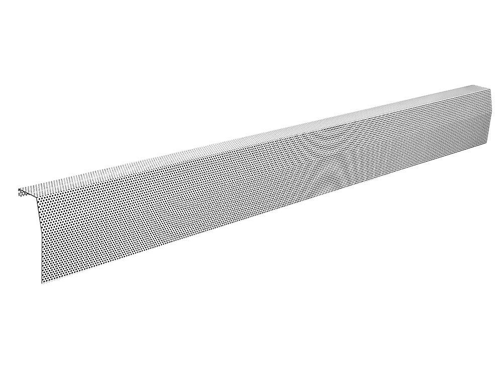 Baseboarders Premium Series Galvanized Steel Easy Slip-On Baseboard Heater Cover in White (7 ft, Cover, No Accessory)