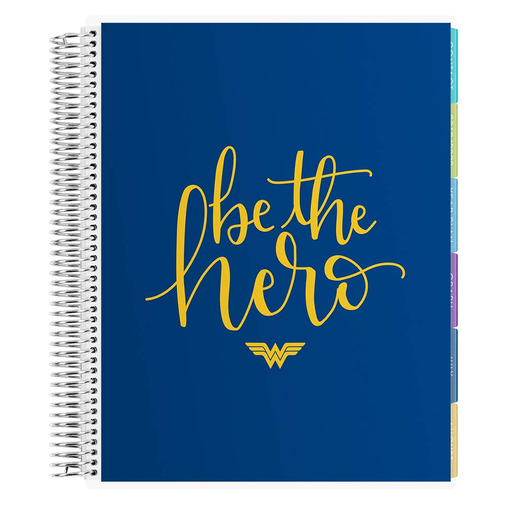 Erin Condren 12 - Month 2020-2021 Be The Hero Teacher Lesson Planner (July 2020-June 2021) - Kaleidoscope Interior Design, 210 Pages of Planning Potential