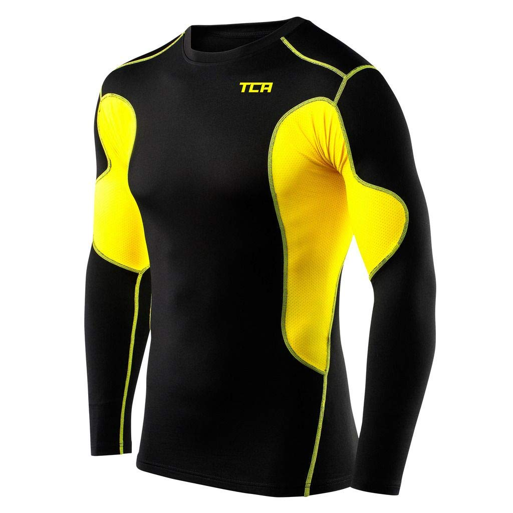 TCA Men's and Boy's SuperThermal Compression Base Layer Top Long Sleeve Thermal Under Shirt