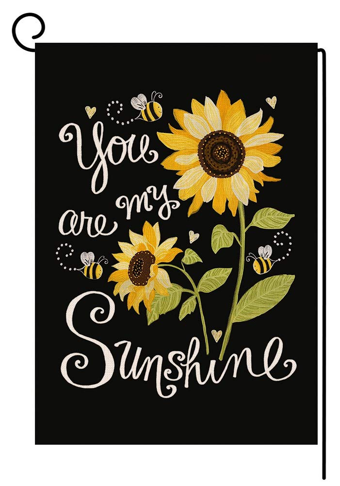 You are My Sunshine Sunflower Small Garden Flag Vertical Double Sided Spring Summer Farmhouse Burlap Yard Outdoor Decor 12.5 x 18 Inches (153839)