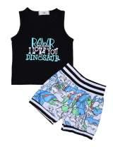 Baby Boy Summer Clothes Dinosaur Print Sleeveless Top and Shorts Set Toddler Boys Outfits