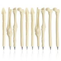 Creative Novelty Bone Shape Ink Ballpoint Pens Finger Pen Nurse Doctor Pen Stationery Gift Crazy Student Gift Pack of 20