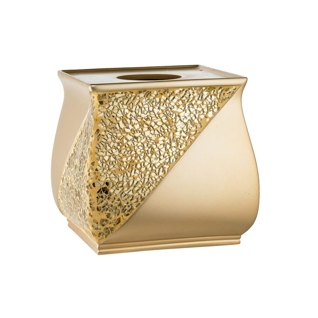 Popular Bath Tissue Box, Sinatra Collection, Champagne/Gold
