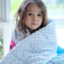 ZonLi Childrens Weighted Blanket for Winter (5 lbs, 36''x48'', Cat), Minky Weighted Blanket for Kids, Soft Minky Material with Glass Beads
