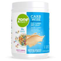 ZonePerfect Carb Wise High-Protein Powder, Fruity Cereal Flavor, for A Low Carb Lifestyle, with 30g Protein, 22.4 Ounce, Pack of 2