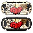 MightySkins Skin Compatible with PS Vita PSVITA Playstation Vita Portable wrap Sticker Skins Stabbing Heart